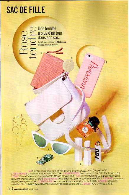 parution-presse-cosmopolitan-magazine-sac-olivia-clergue