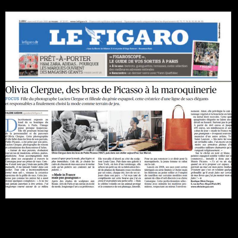 Le Figaro - Portrait Olivia Clergue