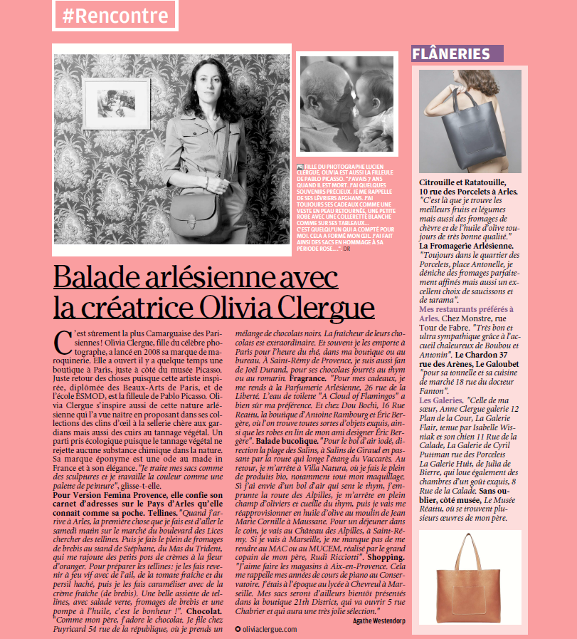 parution-presse-version-femina-provence-interview-olivia-clergue